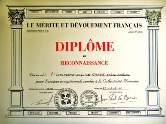 Diplome mérite