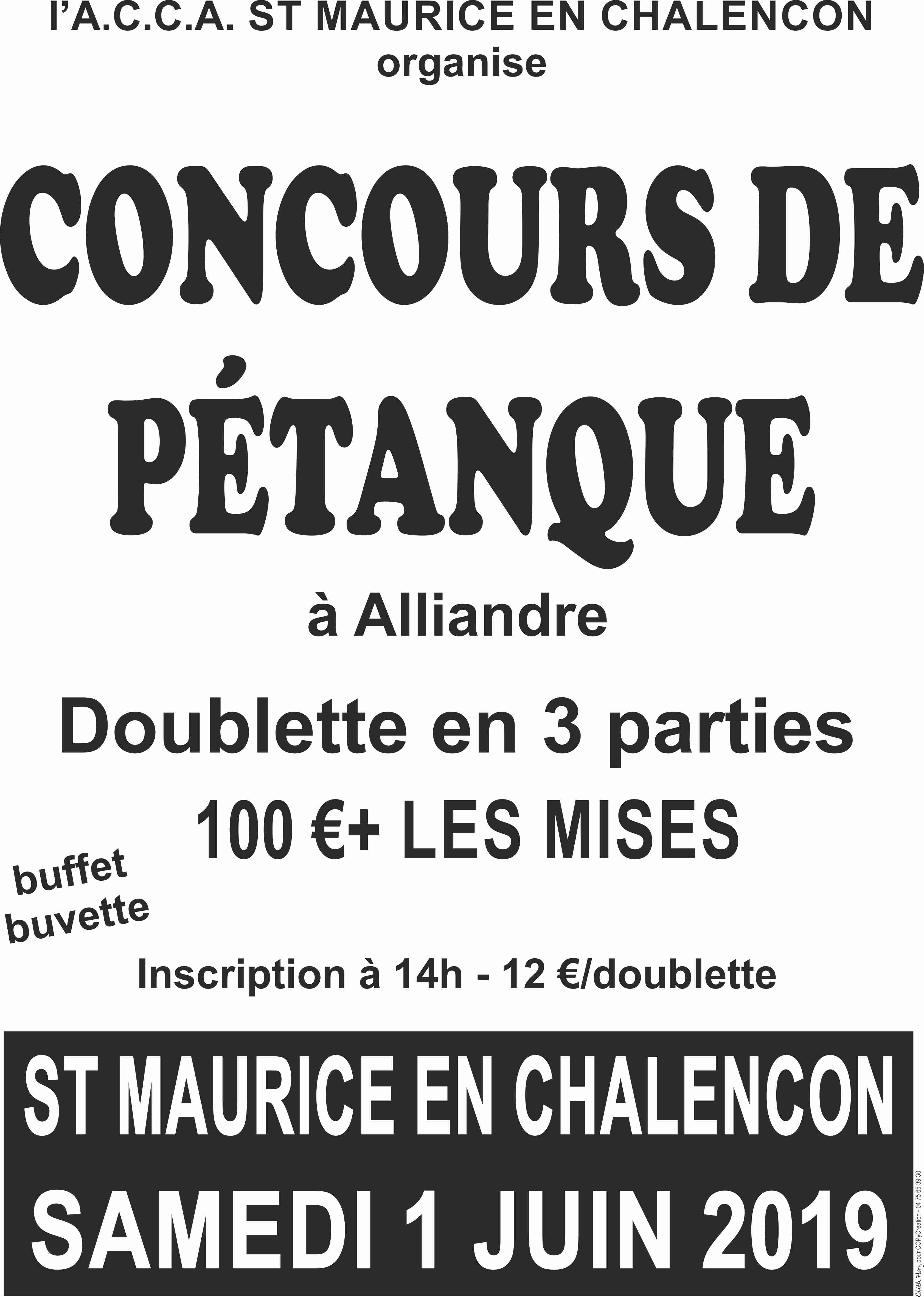affiche concours de pétanque 2019