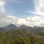 Vue montagnes au pied de AUBENASSON