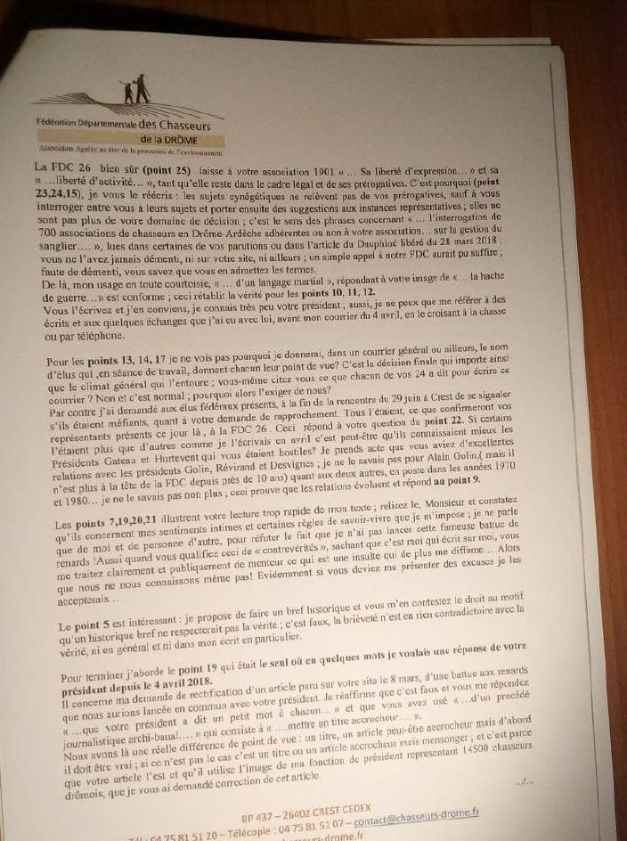 interd u00e9partementale chasse dr u00f4me ard u00e8che